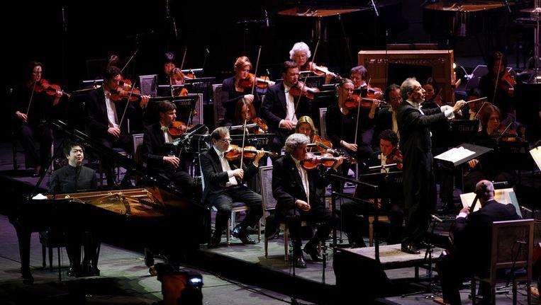 © ANP. Het Rotterdams Philharmonisch Orkest, onder leiding van Ed Spanjaard. Beeld