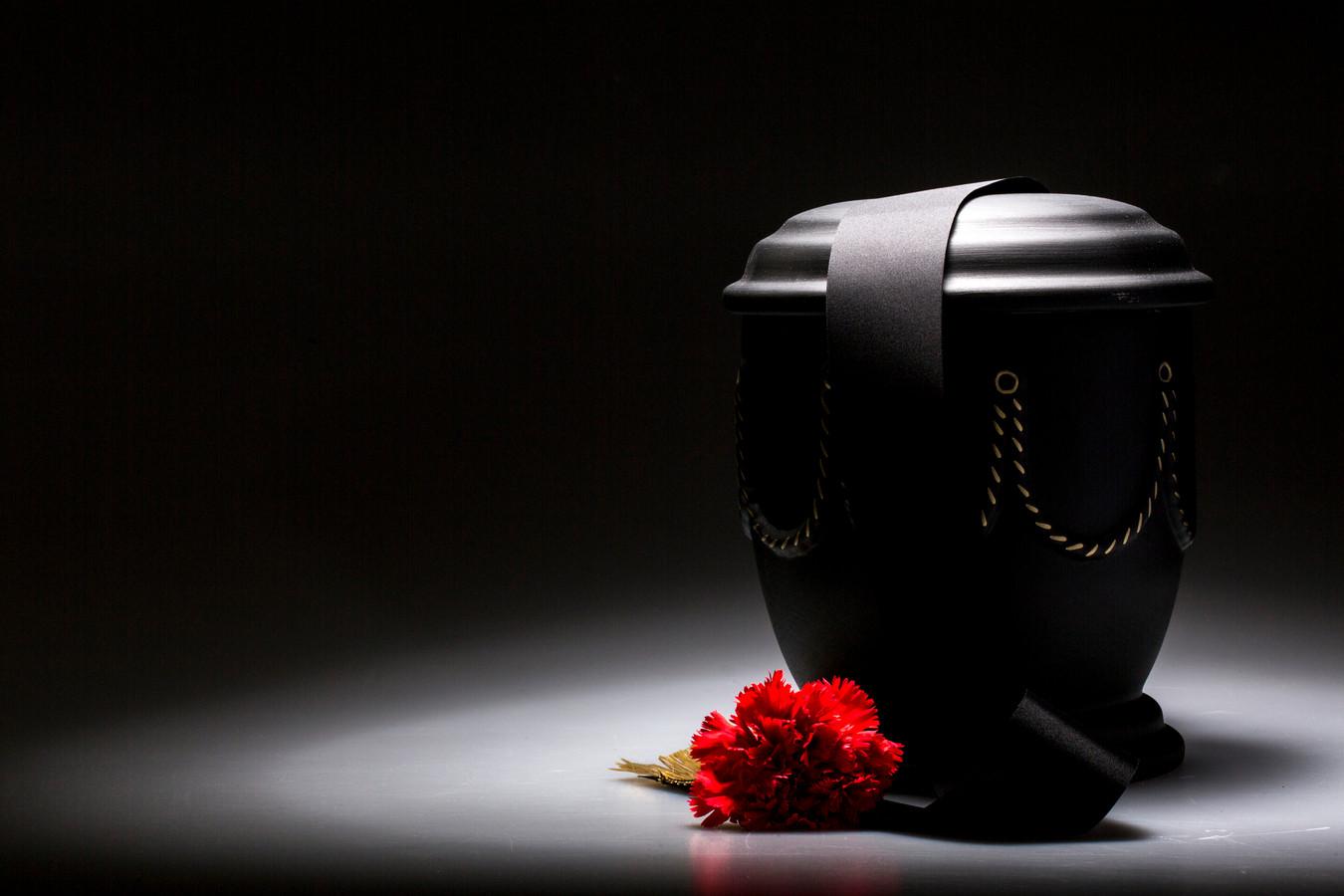Foto van een urn ter illustratie.