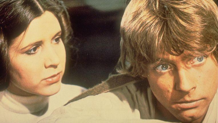 Carry Fisher en Mark Hamill in Star Wars Episode IV Beeld anp