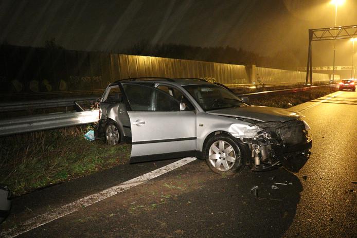 Flinke schade na aanrijding op A2 bij Nieuwegein