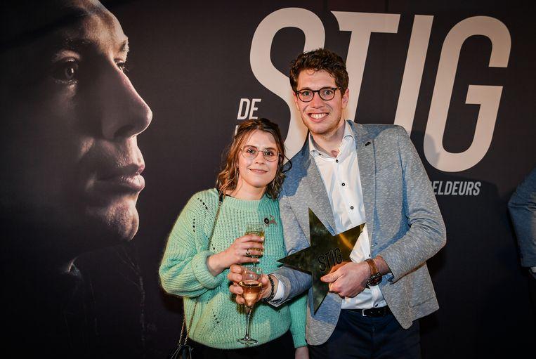 Stig Broeckx en vriendin Marlies.
