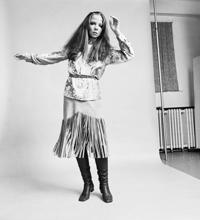 Model Penelope Tree, 5 januari 1968. Beeld Bettmann Archive