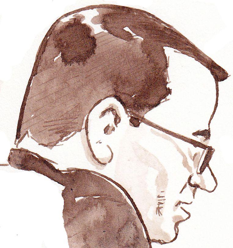 Rechtbanktekening van Dino Soerel tijdens het laatste woord in het proces Passage. Beeld anp
