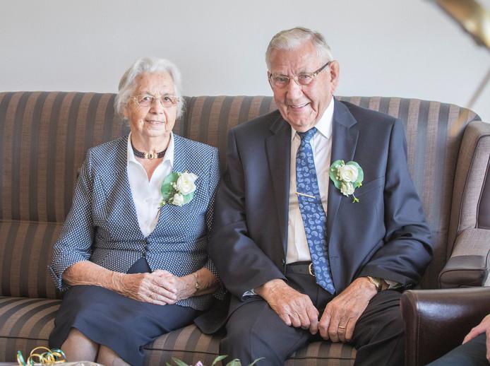 Jo en Arjaan Guiljam-de Frel vierden maandag hun 65-jarig huwelijk.