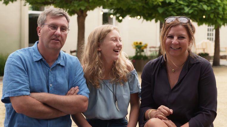 Jan en Lien met hun 14-jarige dochter Anna.