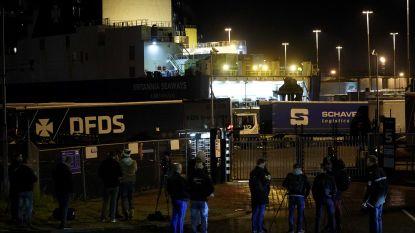 Verstekelingen die aangetroffen werden in ferry in Vlaardingen afkomstig uit Koeweit en Irak