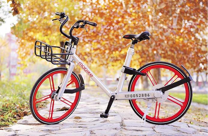 Deze Mobike is binnenkort ook in het Rotterdamse straatbeeld te zien.
