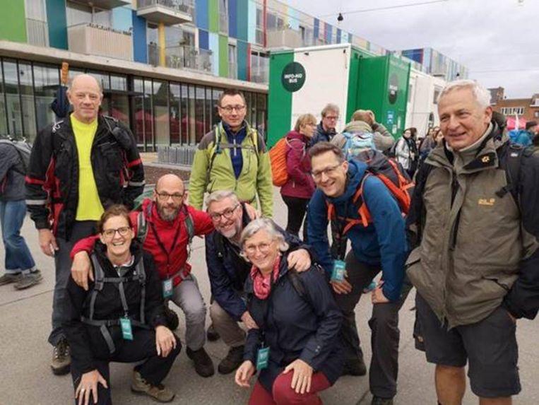 De Lubbeekse deelnemers van de Refugee Walk in Leuven zijn teleurgesteld in het Lubbeekse gemeentebestuur.
