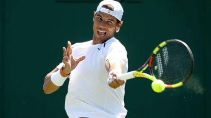 """Nadal strijkt vol vertrouwen neer op Wimbledon: """"Ik voel me goed"""" - Federer verliest zowaar een van zijn vele records"""