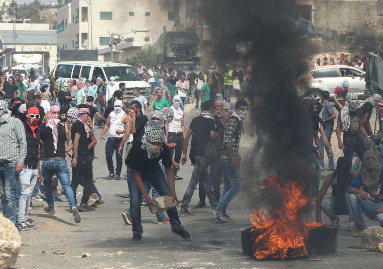 Palestijns studentenprotest in oktober. Beeld afp
