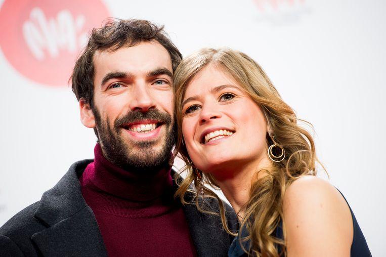 Jan Paternoster en Eva De Roo op de rode loper van de MIA's in 2018.