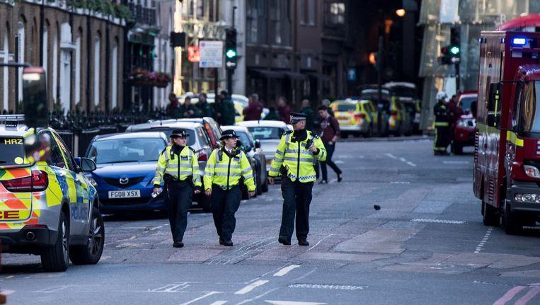 Politieagenten in de buurt van Borough Market. Beeld anp