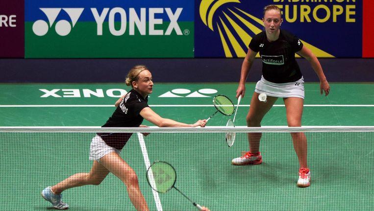 Badmintonsters Selena Piek en Eefje Muskens. Beeld null