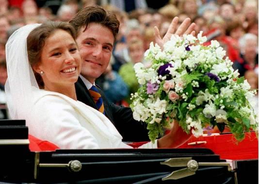 Maurits op zijn huwelijk met Marilène, 28 mei 1998 te Apeldoorn.