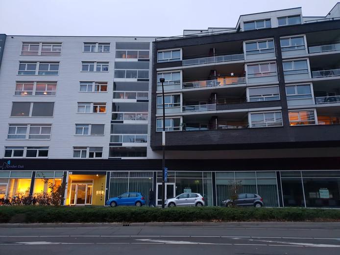 De locatie van de inval in Hengelo