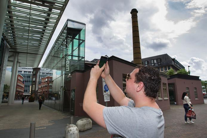 Willy Stork in de Eindhovense binnenstad.