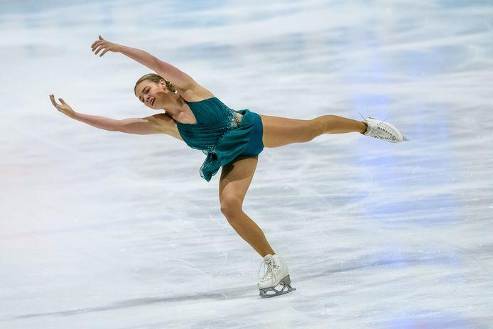 Niki Wories op het ijs van De Uithof.