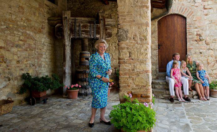 Beatrix in het Toscaanse vakantieverblijf, in 2011.