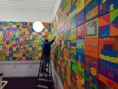 750 unieke schilderijtjes vormen samen één groot kunstwerk: 'Geweldig wat Roosendaal voor elkaar krijgt'