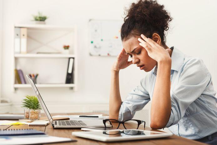 Foto ter illustratie. Nog steeds ligt het stressniveau van de Nederlandse werkende erg hoog en de coronacrisis zal dat dit jaar niet verbeteren, verwacht onderzoeksinstituut TNO.