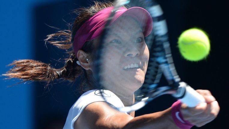 Li Na in haar halvefinalepartij tegen Eugenie Bouchard. Beeld afp