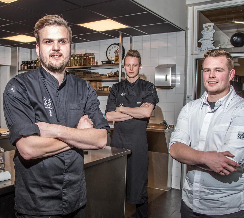 Jan Smink (vlnr), Lars Aukema en Sander Verhaaf vertegenwoordigden vorig jaar Nederland bij de Bocuse d'Or.
