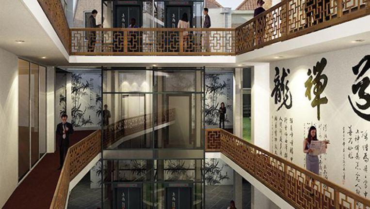 Voor het nieuwe hotel worden drie panden samengevoegd Beeld Buro Van Stigt