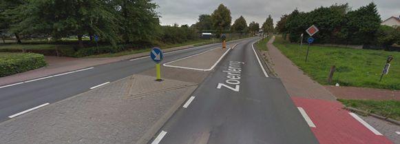De oversteekplaats tussen Zoerledorp en oude Zoerlebaan.