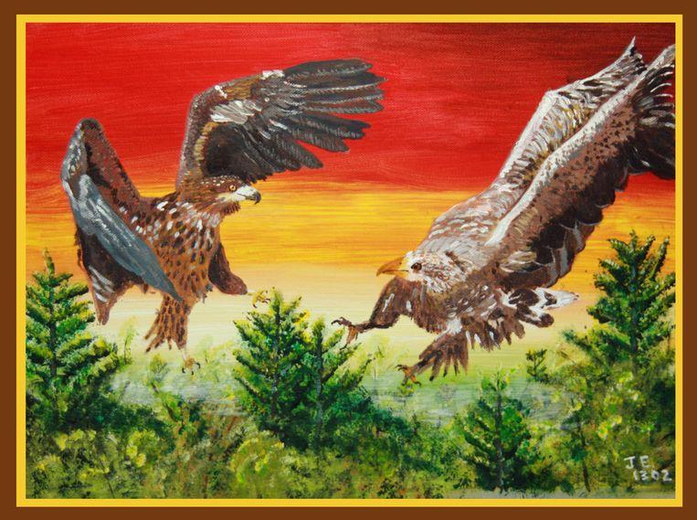Eagles painting, door John Eagles. Deze afbeelding gebruikte hij een tijdje als profielfoto. Beeld