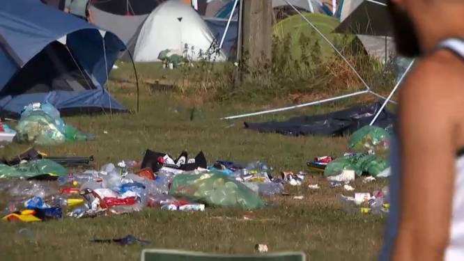 Bergen afval blijven achter op campings van Rock Werchter