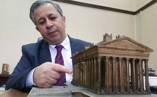 Het hoofd van het Syrische Museum, Mamun Abdul-Karim.