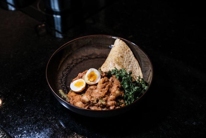 Roti is een populair Surinaams gerecht. Echter niet langer verkrijgbaar aan de Kuipersdijk in Enschede.