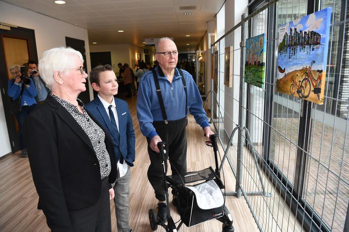 De expositie is geopend door een bewoner van VITA die de bevrijding heeft meegemaakt en door jeugdburgemeester Bjorn Storm.