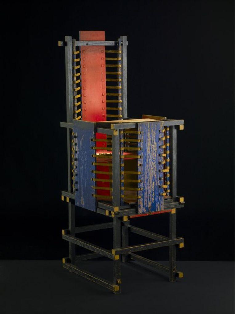 Gerrit Rietveld: Rood blauwe stoel (1918-1923). Foto ANP Beeld