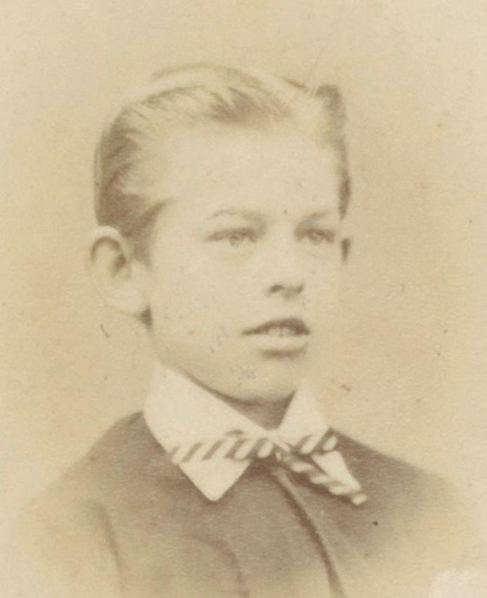 Johnny Fransen van de Putte in circa 1874 op 13-jarige leeftijd toen hij op Noorthey zat.