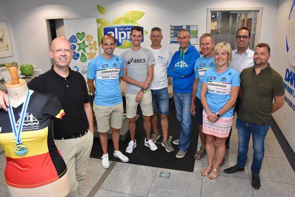 Leiemarathon Wevelgem - de organisatoren met peter Koen Naert en Dieter Durnez van De Witte Berken