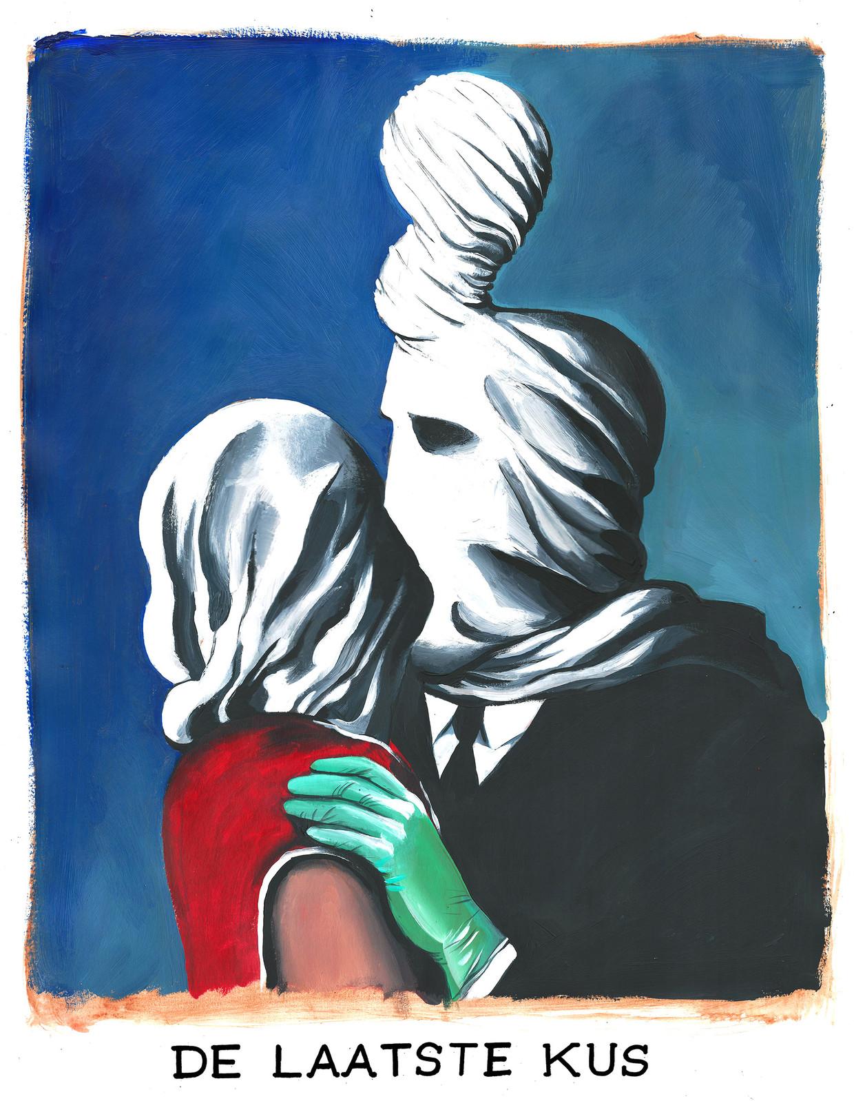 De laatste kus Beeld Kama & Seele