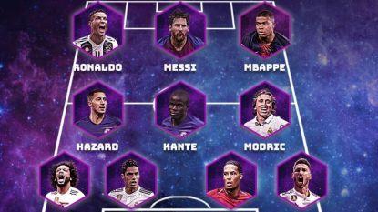 Hazard krijgt plaatsje in indrukwekkend Europees team van het Jaar, De Bruyne niet van de partij