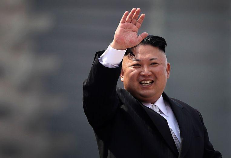 De Noord-Koreaanse leider Kim Jong-un. Beeld AP