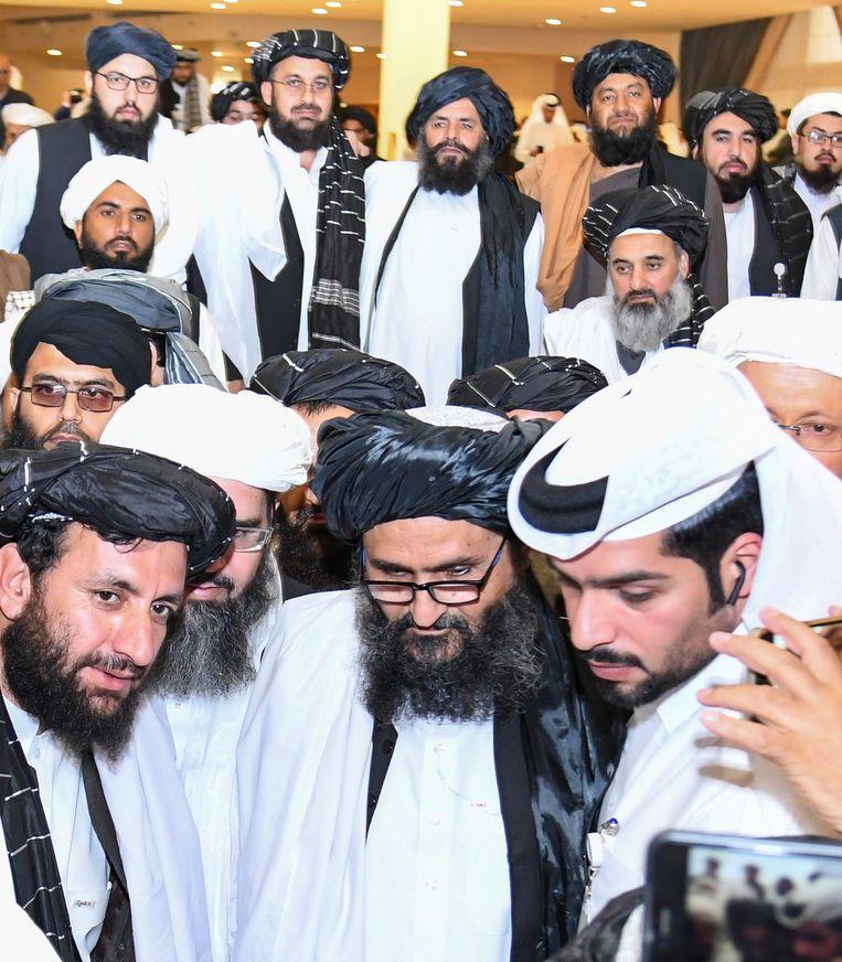 Moellah Abdoel Ghani Baradar sloot namens de Taliban vrede met de VS. Beeld EPA