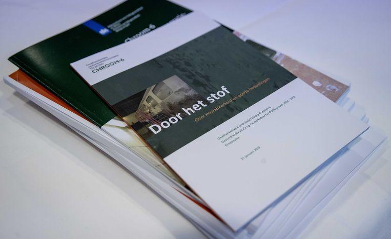 'Door het stof', het rapport van het RIVM-onderzoek naar blootstelling aan chroom-6 in Tilburg. Beeld ANP