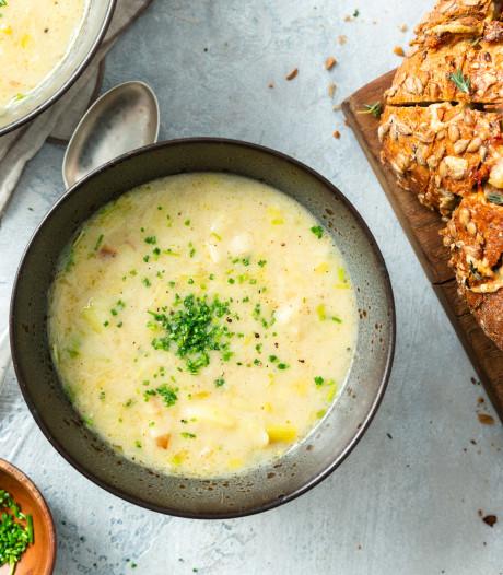 Wat Eten We Vandaag: Franse preisoep met comté-borrelbrood