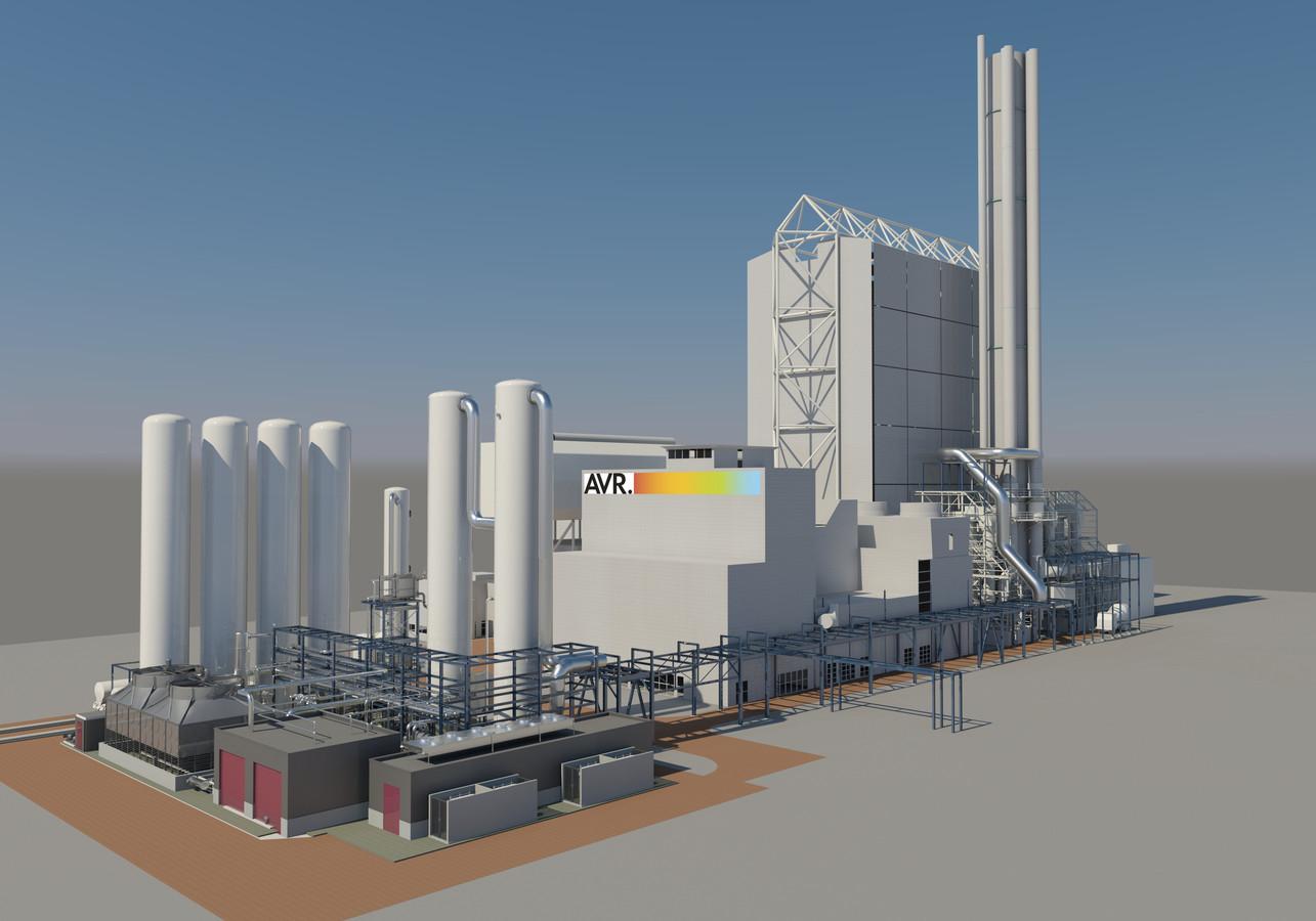 De toekomstige C02-plant bij de AVR in Duiven.