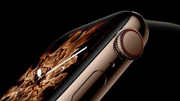 Detail van de Apple Watch Series 4.