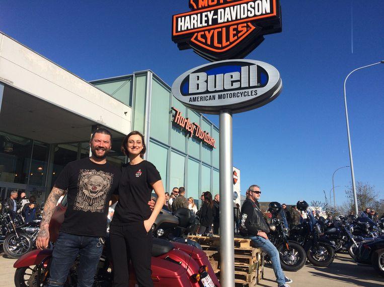 De Harley Davidson 'Open House' was een schot in de roos. Zaakvoerders Wesley Mahieu en Rebecca Houwen blikken tevreden terug op een geslaagd weekend.