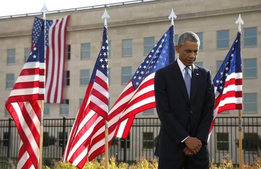 President Obama, vandaag bij de 9/11-herdenking.