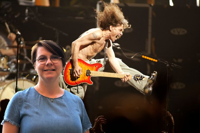 Beiaardier Malgosia Fiebig en Eddie van Halen.