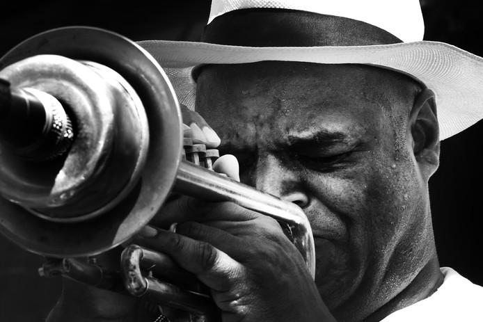 Michael Varenkamp, trompettist. Treedt op tijdens speciaal programma op de vrijdag in het Stedelijk Museum dat tijdens Breda Jazz Festival 2019 in het teken staat van de New Orleans Jazz.