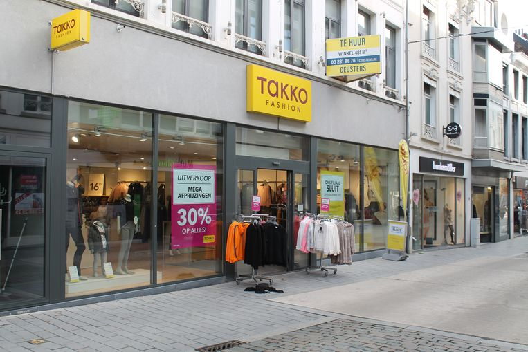 Ook winkelketen Takko verlaat eind dit jaar de Antwerpsestraat.