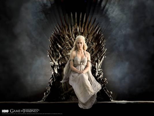 Schoutens favoriete personage 'Khaleesi' op de IJzeren Troon uit Game of Trones